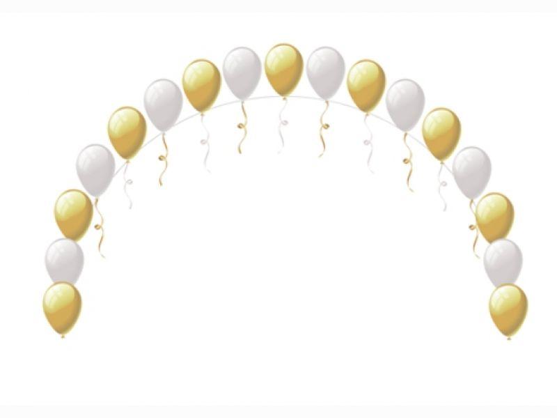 Как сделать цепочку из шаров без гелия